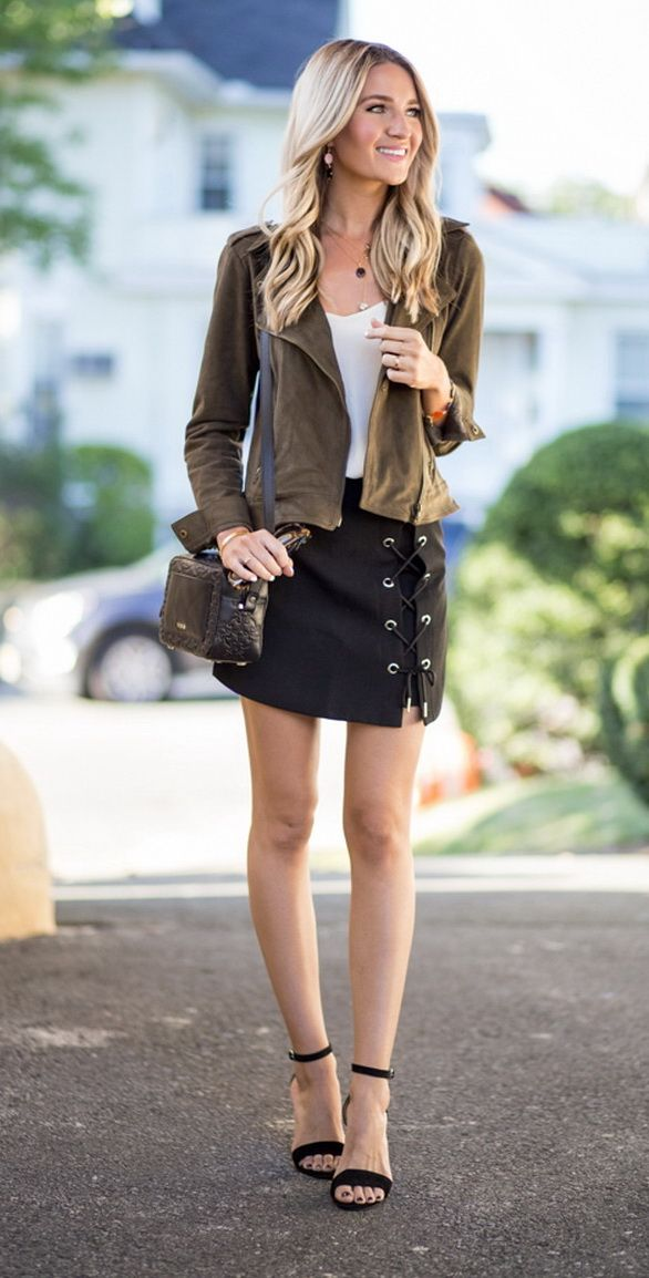 Lace Up Tie Skirt