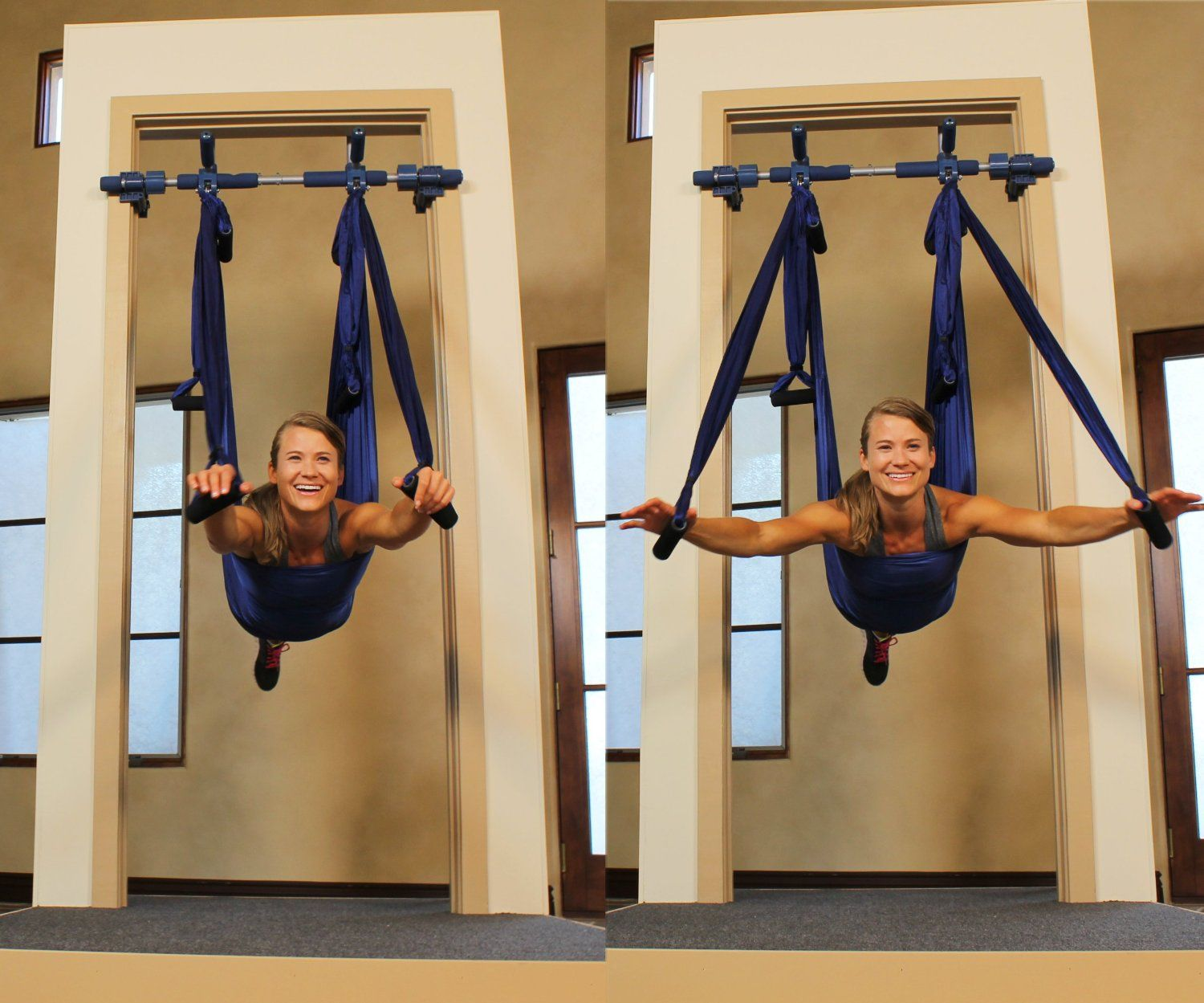 Doorway Yoga But I Can Hang Silks From The Pull Up Bar