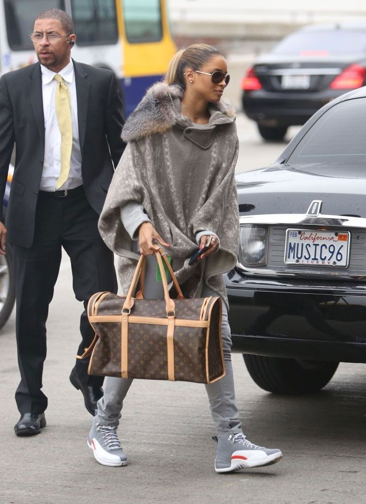 bb80f66086e41d Ciara wearing Air Jordan XII 12 Cool Grey