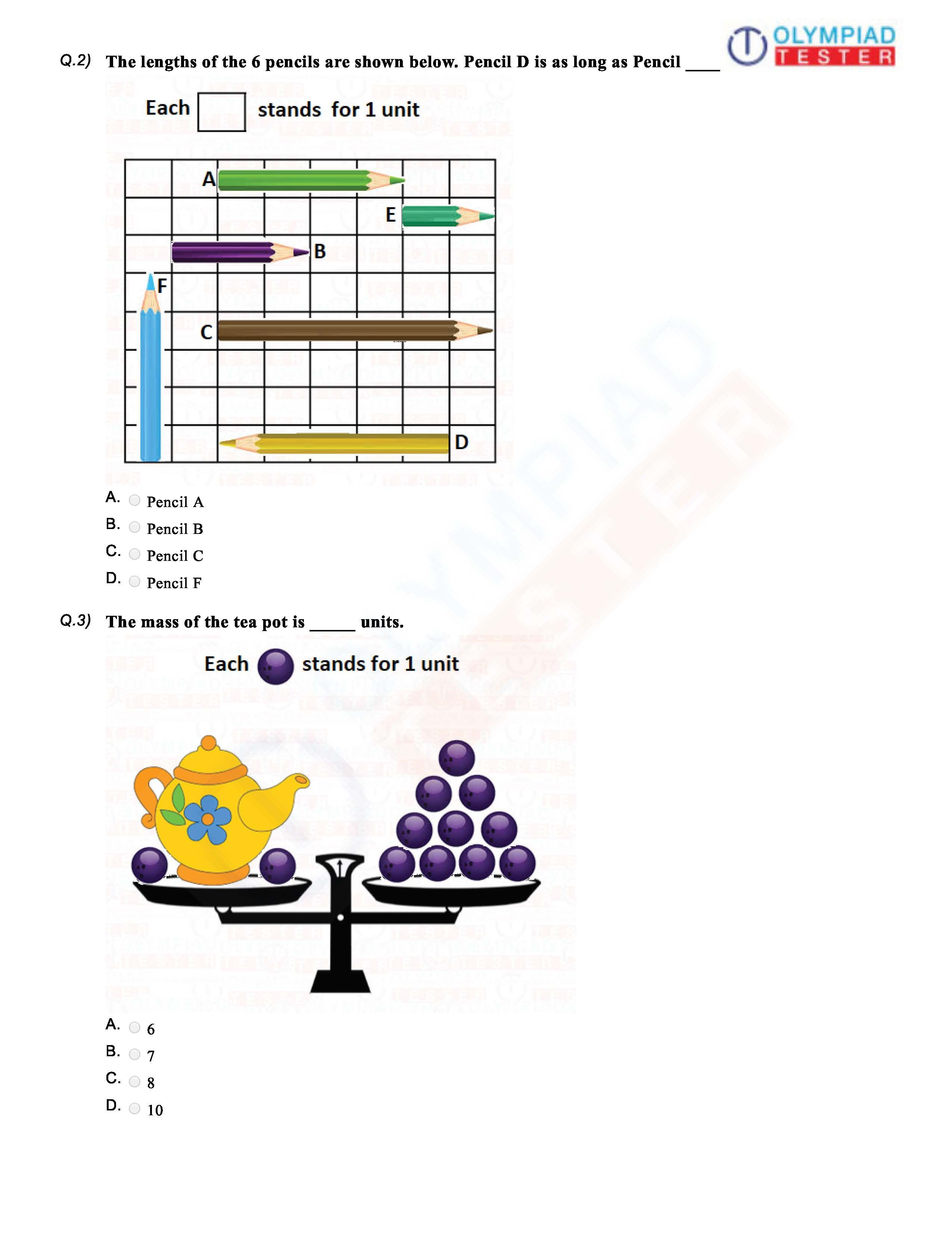 hight resolution of CBSE Class 1 Maths Sample paper   Math olympiad