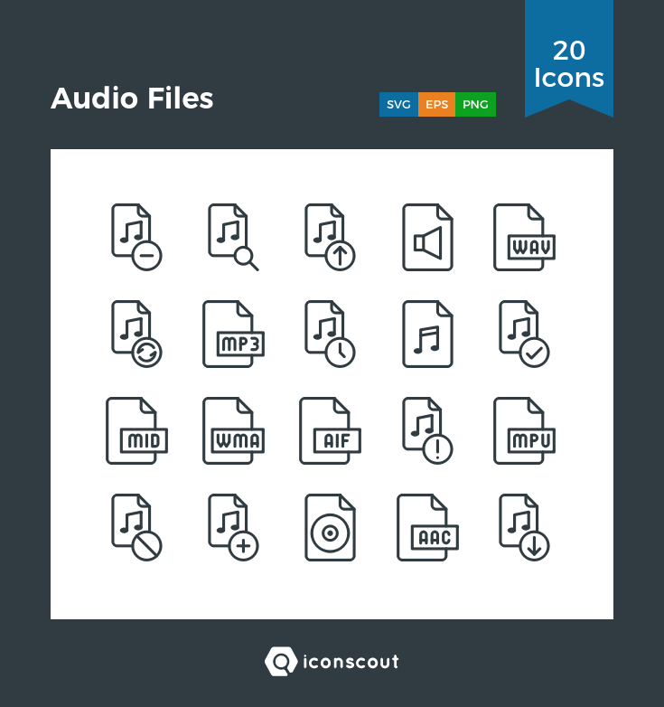 Download Audio Files Icon Pack Available In Svg Png Eps Ai Icon Fonts Icon Icon Pack Icon Font