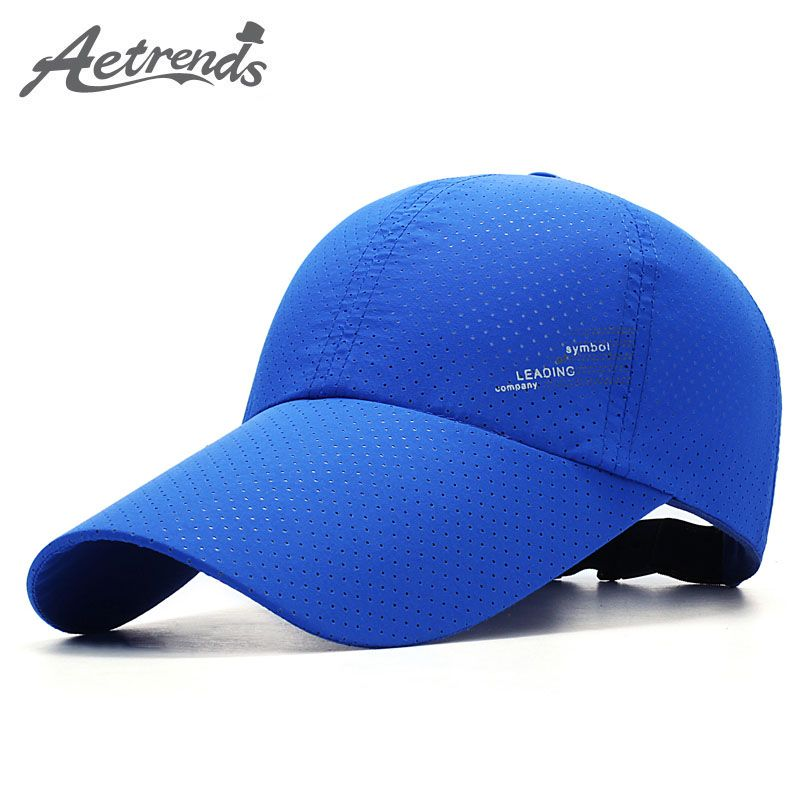 f06cbeea204  AETRENDS  2017 Summer Breathable Mesh Cap Men s Baseball Caps Quick Dry  Visor Hat Z-5232   Price   12.00  nerd