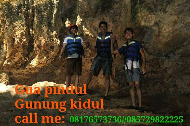 body rafting on the cave. Pindul cave gunungkidul Yogyakarta.