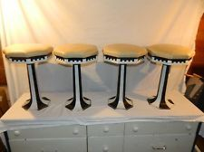 Antique Soda Fountain Ice Cream Parlor Stools Cast Iron Porcelain For Sale Benches & Stools