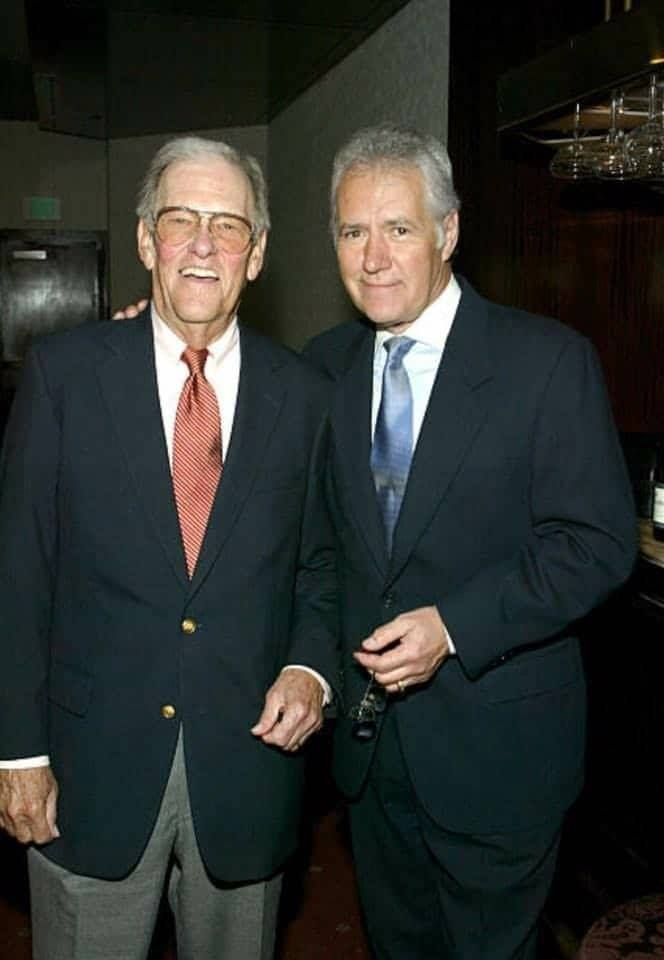 Tom Kennedy And Alex Trebek In 2020 Suit Jacket Fashion Single Breasted Suit Jacket