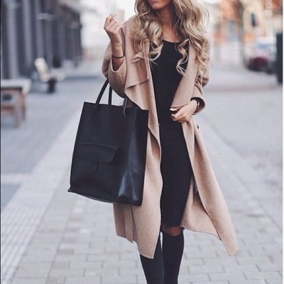 8940621c93 Zara Waterfall Camel Coat Serious buyers only No Trades   No lowball offers  Bundle 2+ items and save 10% My items are high quality and well cared for I  ship ...