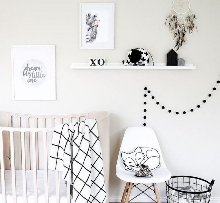 Déco chambre bébé fille et garçon en style scandinave pour un