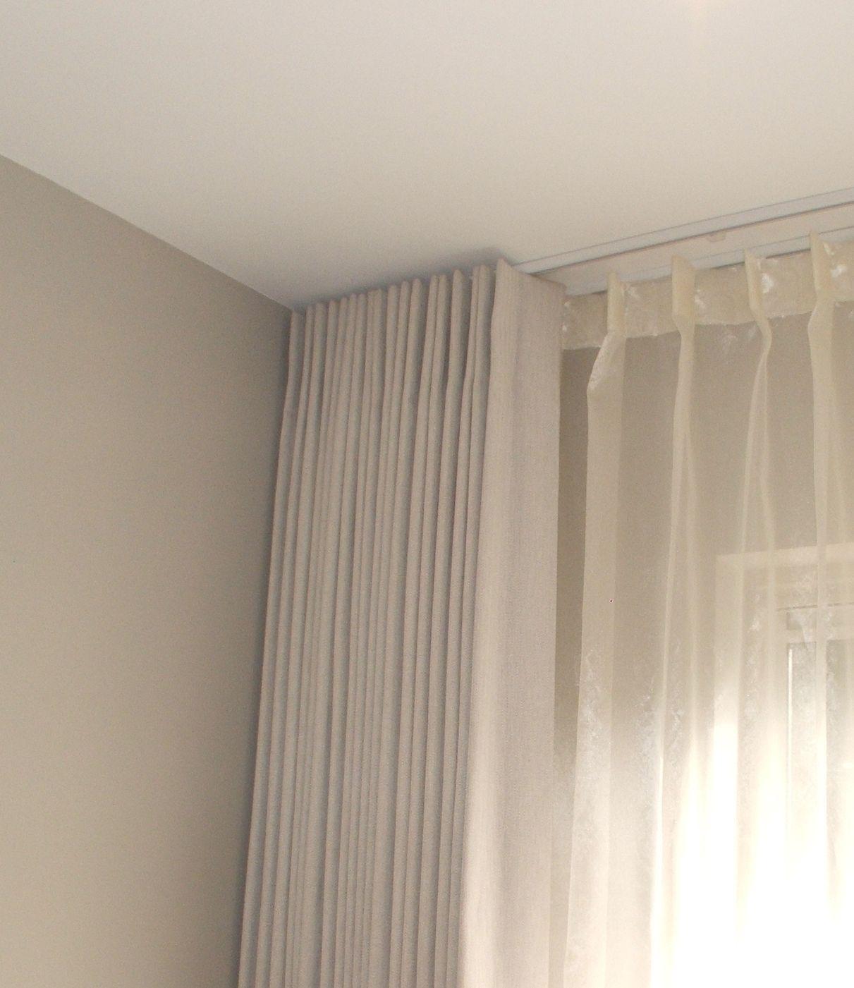 Discreet White Tracks Sitting Flush To Ceiling To Achieve