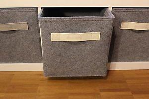 Filz Box Regalkorb Schrankkorb Korb Kiste Ordner Edel Leder passend Ikea Expedit…