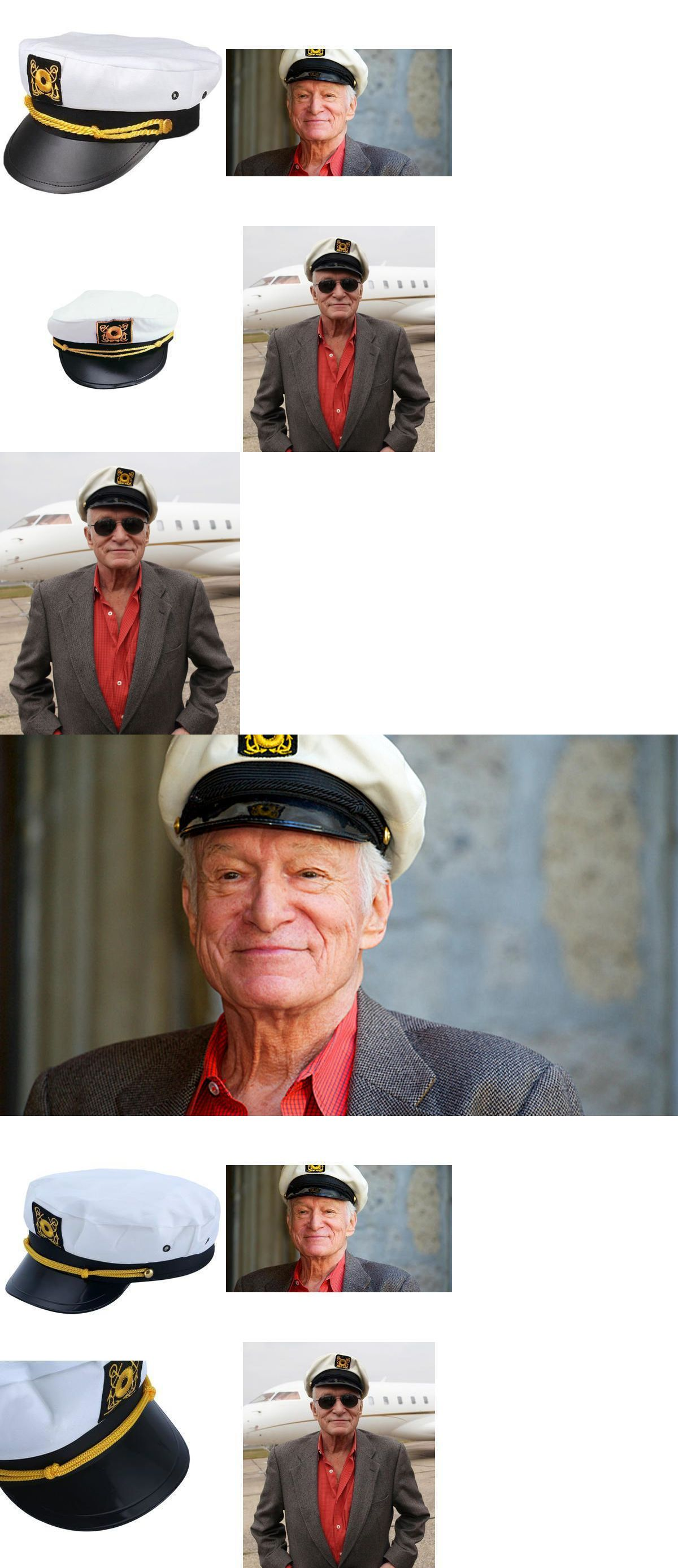 Hats and Headgear 155349  Replica Hugh Hefner Hat Adult Playboy Yacht  Captain Hat Costume Accessory 1 Size -  BUY IT NOW ONLY   10.99 on  eBay   headgear ... ebc6daa183af