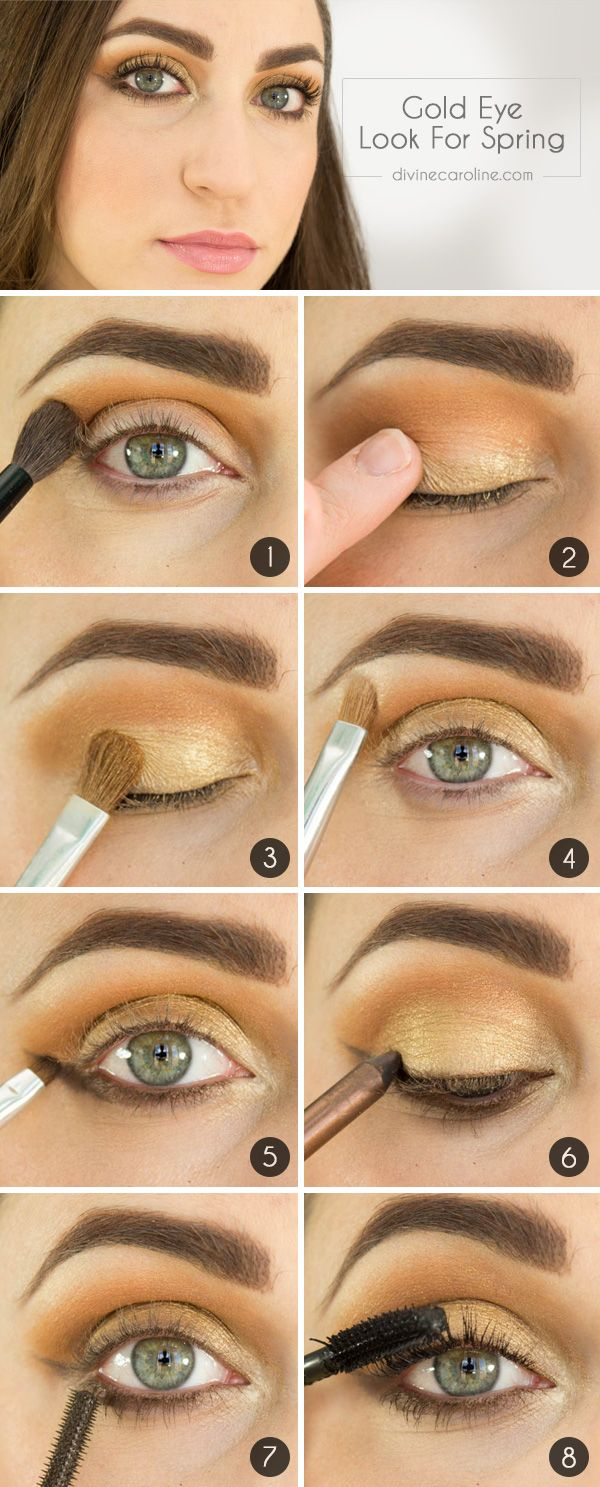 Gold Eyes: How to Wear Metallic Makeup For Spring - More