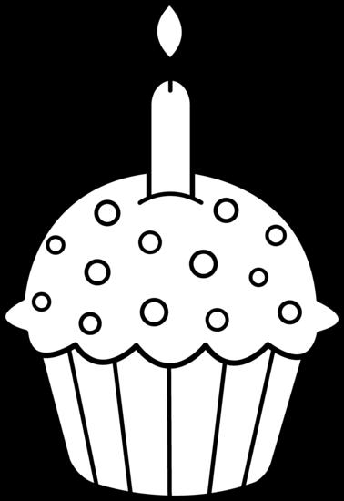 cupcake clipart black