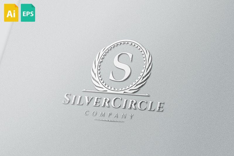 silver circle logo logo pinterest logos circle logos logo