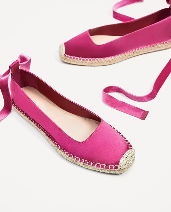 best sneakers a3008 69560 ZARA - MUJER - ESPARDEÑA RASO ATADA Zapatos Zara Mujer 2017, Zapatos De  Lona,