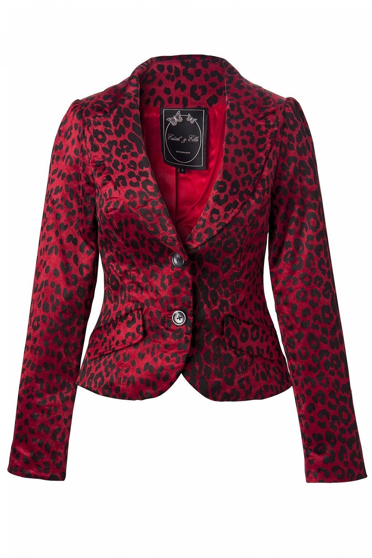 Edith & Ella Blazer Leopard Dark Red  $164.95 euro