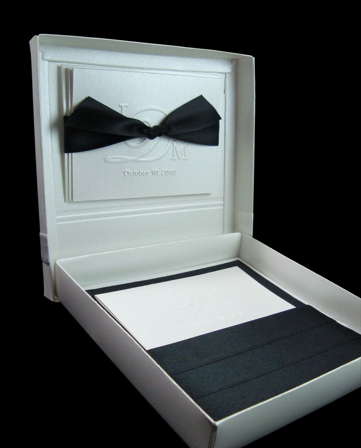Boxed Couture Wedding Invitations Invite Invitation Black White Tie Set Of 100: Black Tie Wedding Invitation Box At Websimilar.org