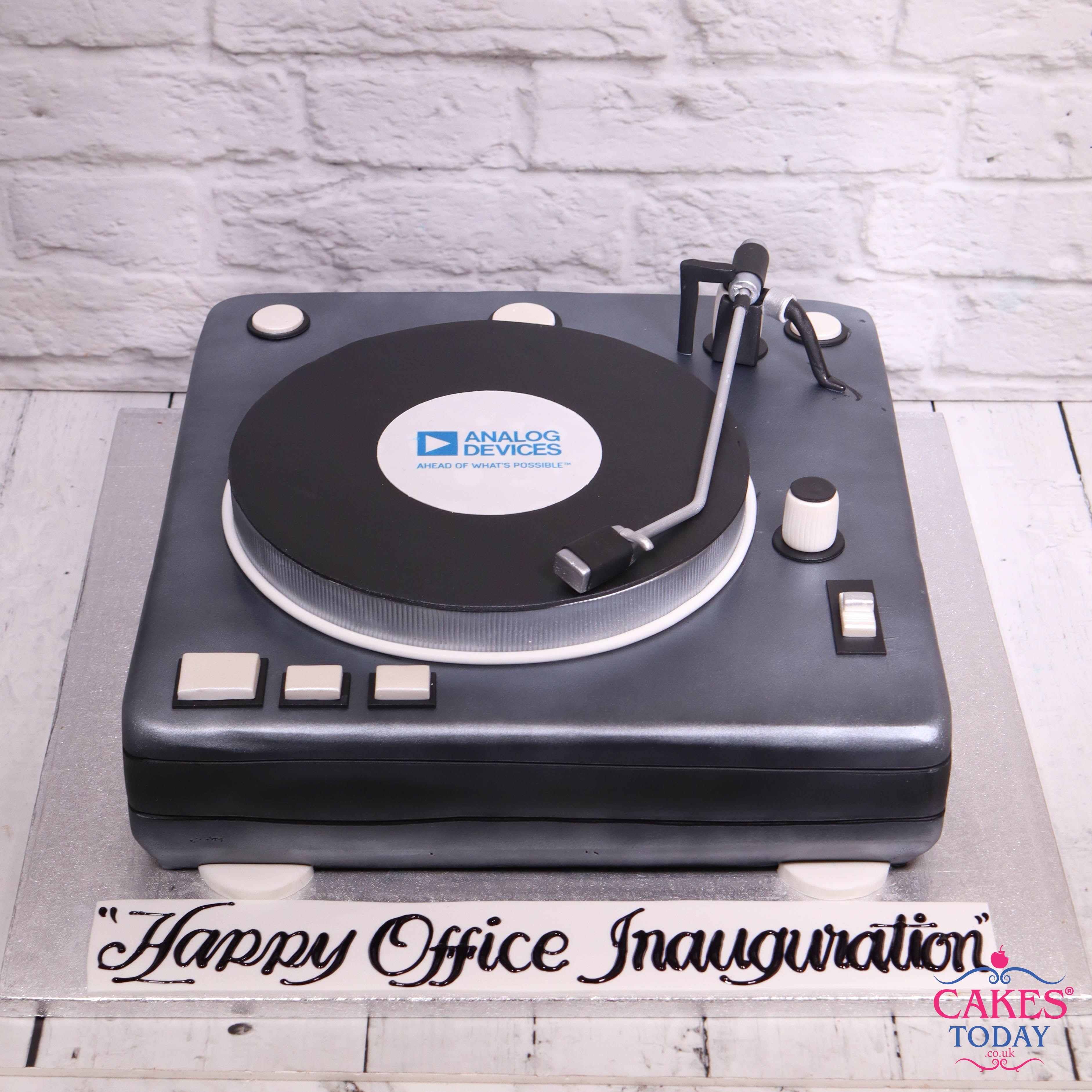 Vinyl Record Player Cake A820 Record Cake Turntable Cake Dad Cake