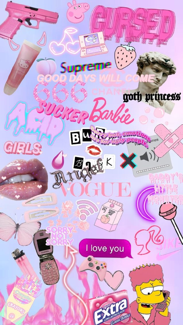 Iphone Wallpaper Background Pink Aesthetic Edgy Tumblr Edgy Wallpaper Pink Wallpaper Iphone Cartoon Wallpaper Iphone