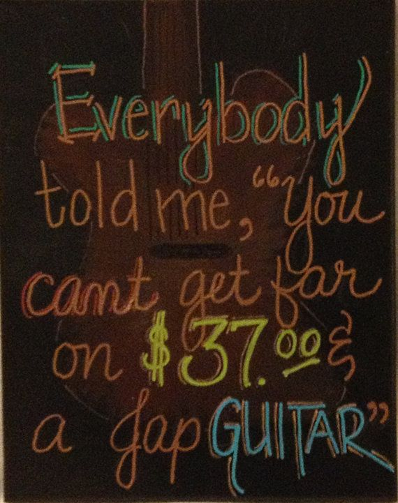Guitar Town Steve Earle by WordsNotWar on Etsy, $50.00 | Ever so ...