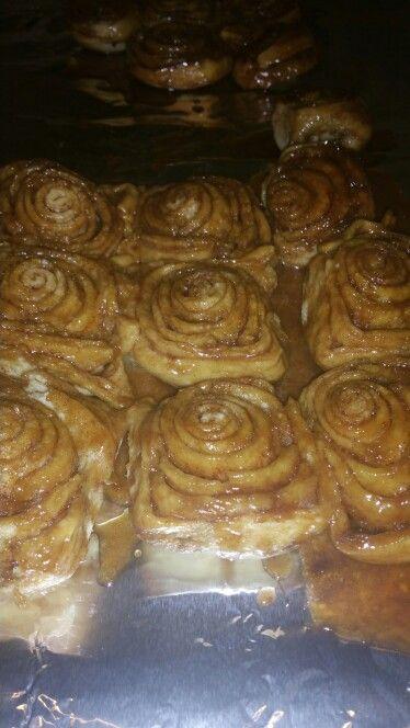Homemade cinnamon rolls. ..