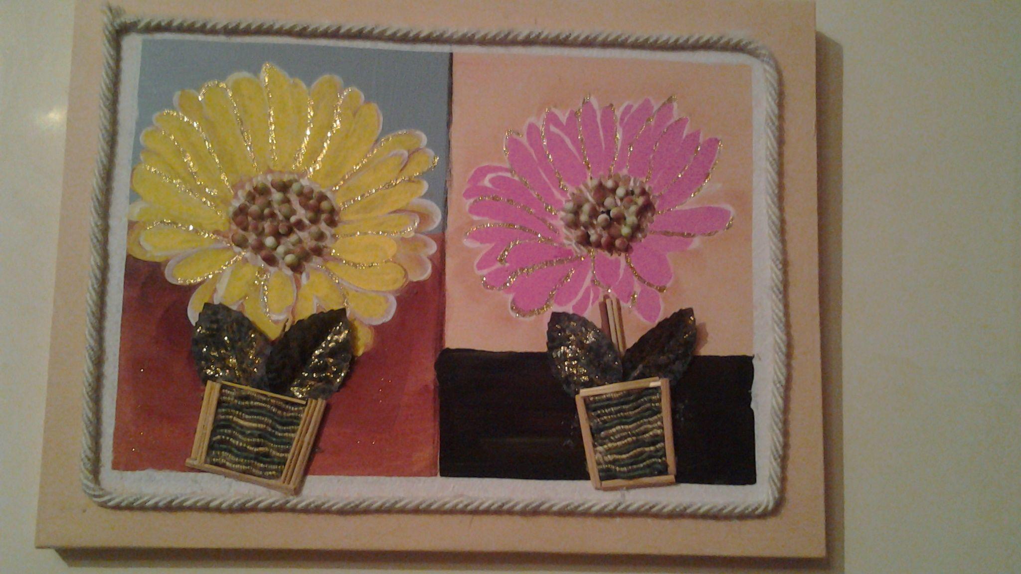 Quadro di fiori in vaso esterno