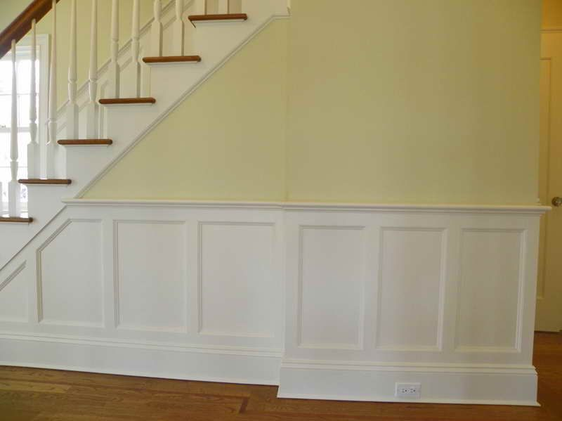 Raised Panel Wainscoting With The Stairs