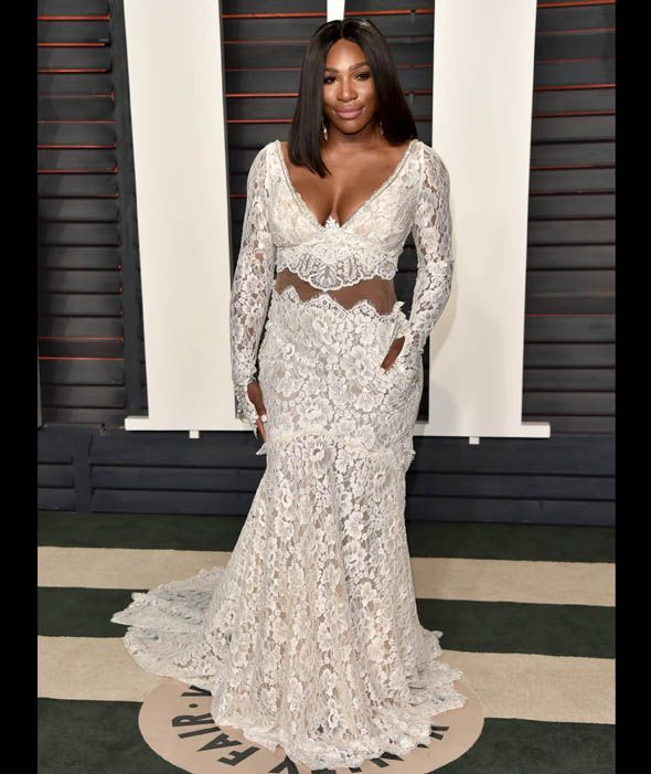 Serena Williams attends the 2016 Vanity Fair Oscar Party