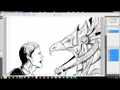 ▷ Comic Book Coloring Tutorial - Scanning - YouTube | Digital Art ...