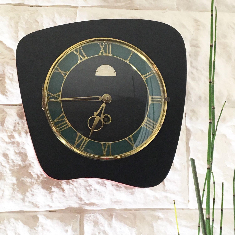 horloge murale m canique forme libre horloge miroirs r veils vintage horloge murale. Black Bedroom Furniture Sets. Home Design Ideas