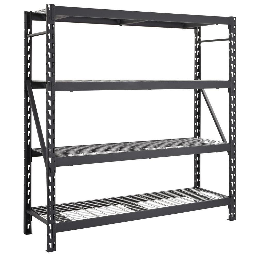 Husky 77 In W X 78 In H X 24 In D 4 Shelf Welded Steel Garage