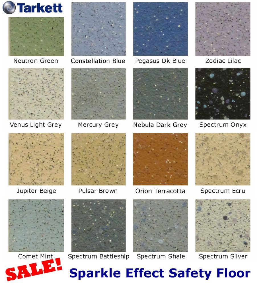 Anti slip safety flooring commercial grade sparkle