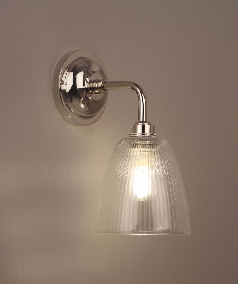 Clear Glass Bathroom Ceiling Light Pixley Retro And Traditional