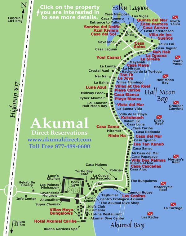 Akumal Mexico Map | compressportnederland