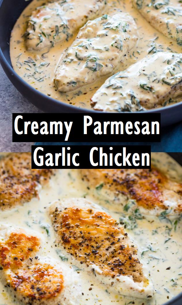 Creamy Parmesan Garlic Chicken - Recipes Made Easy #garlicchicken