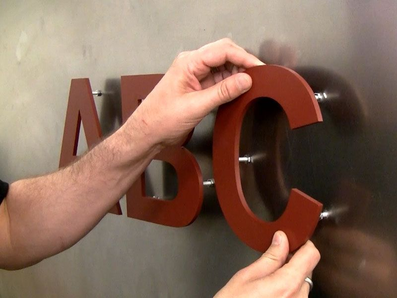 How To Mount Sign Letters On A Metal Wall Create A Metal Sign Diy Metal Letter Signs Diy Signs Lettering Metal Wall Sign