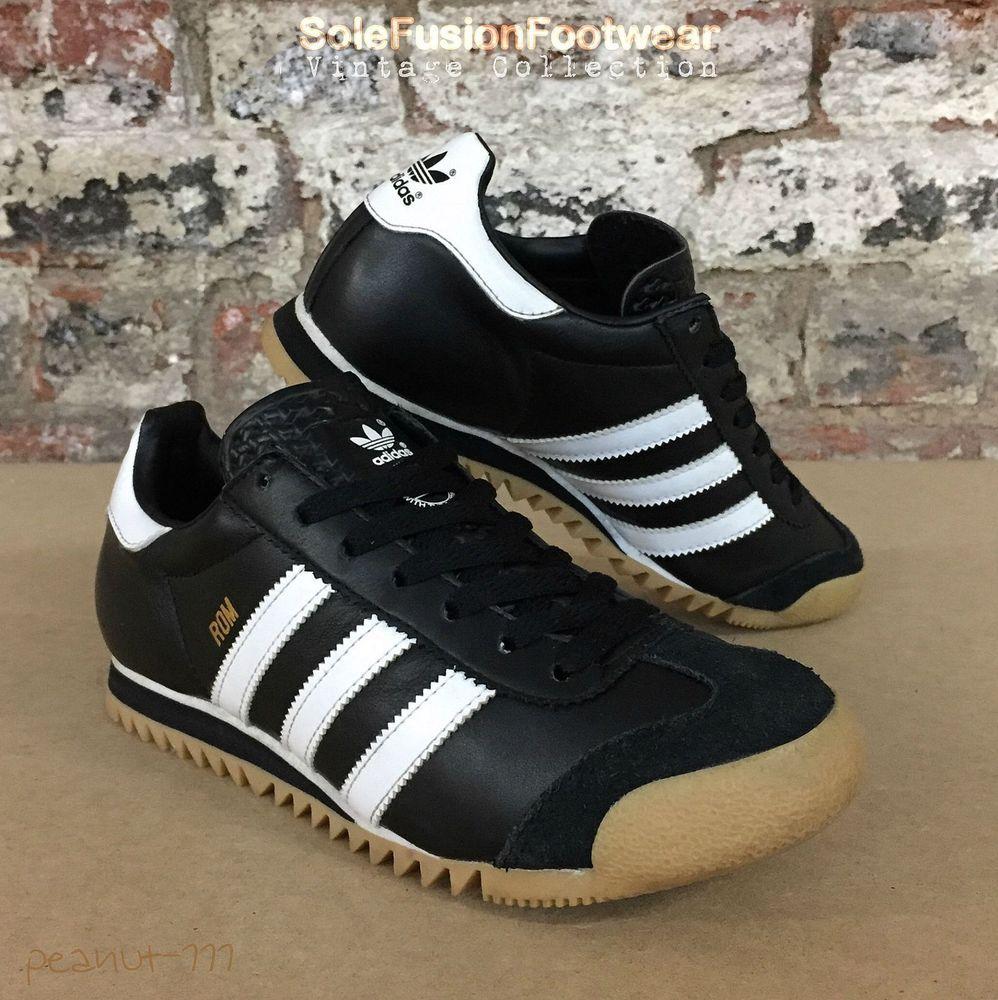 adidas originals rom trainers black