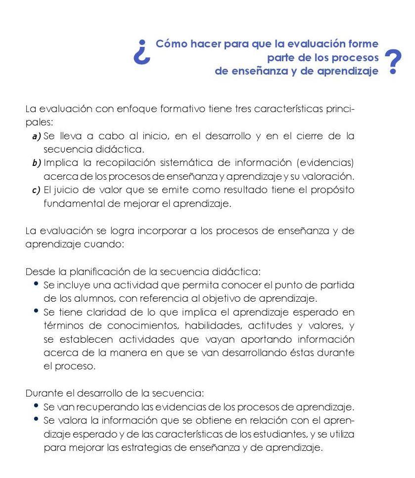 Los Elementos Del Curriculo En El Contexto Del Enfoque Formativo De La Evaluacion Evaluacion Didactico Los Elementos