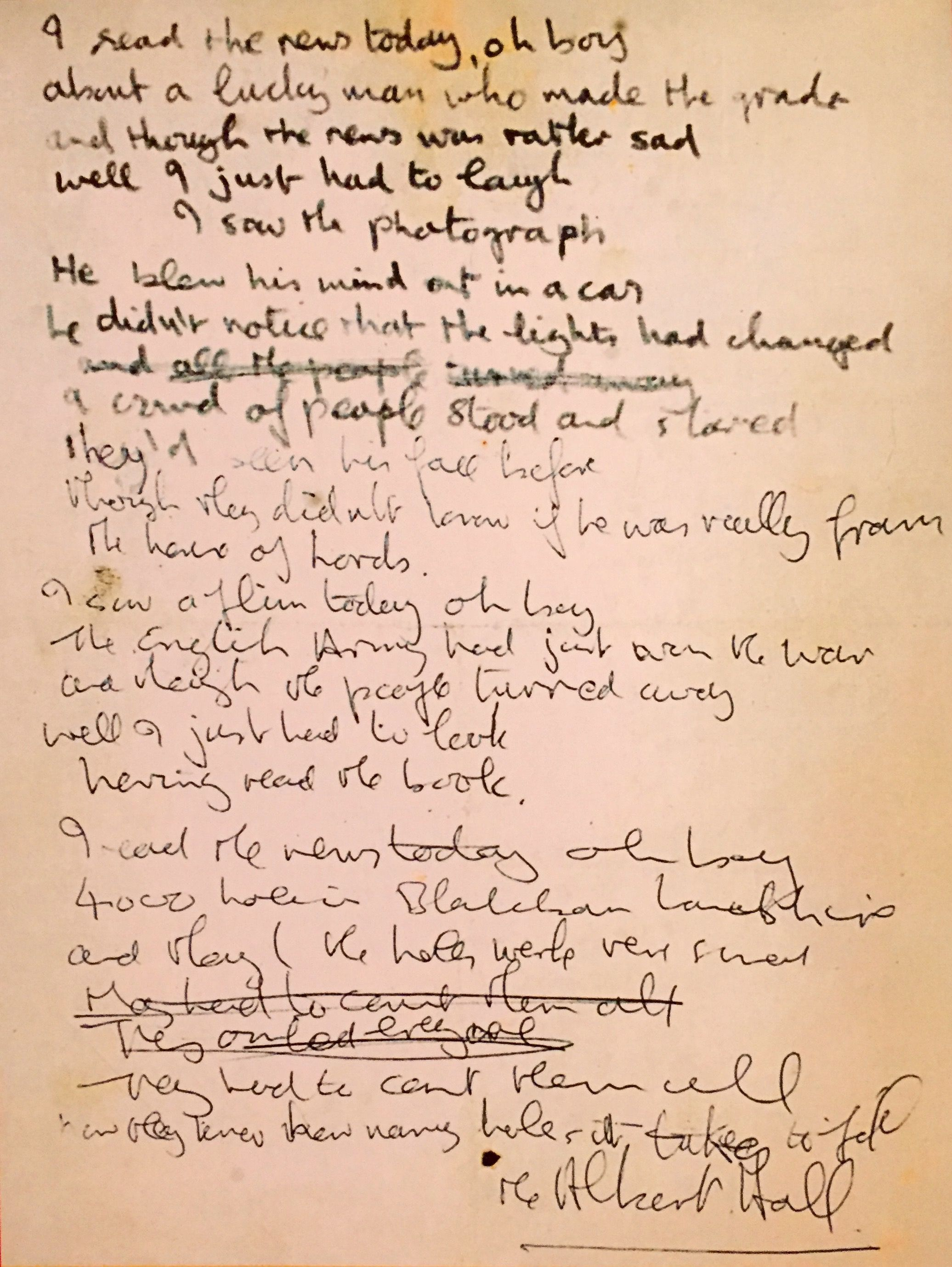 A Day In The Life Beatles Lyrics The Beatles News Today