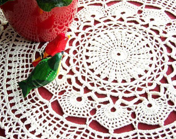 Etonnant Crocheted Table Cloth Doily Handmade Crocheted By MadebyZolla