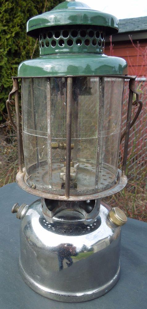Vintage Coleman Model 220 Slant Double Mantle Lantern Made In October 1928 Ebay Mantle Lantern How To Make Lanterns Lanterns