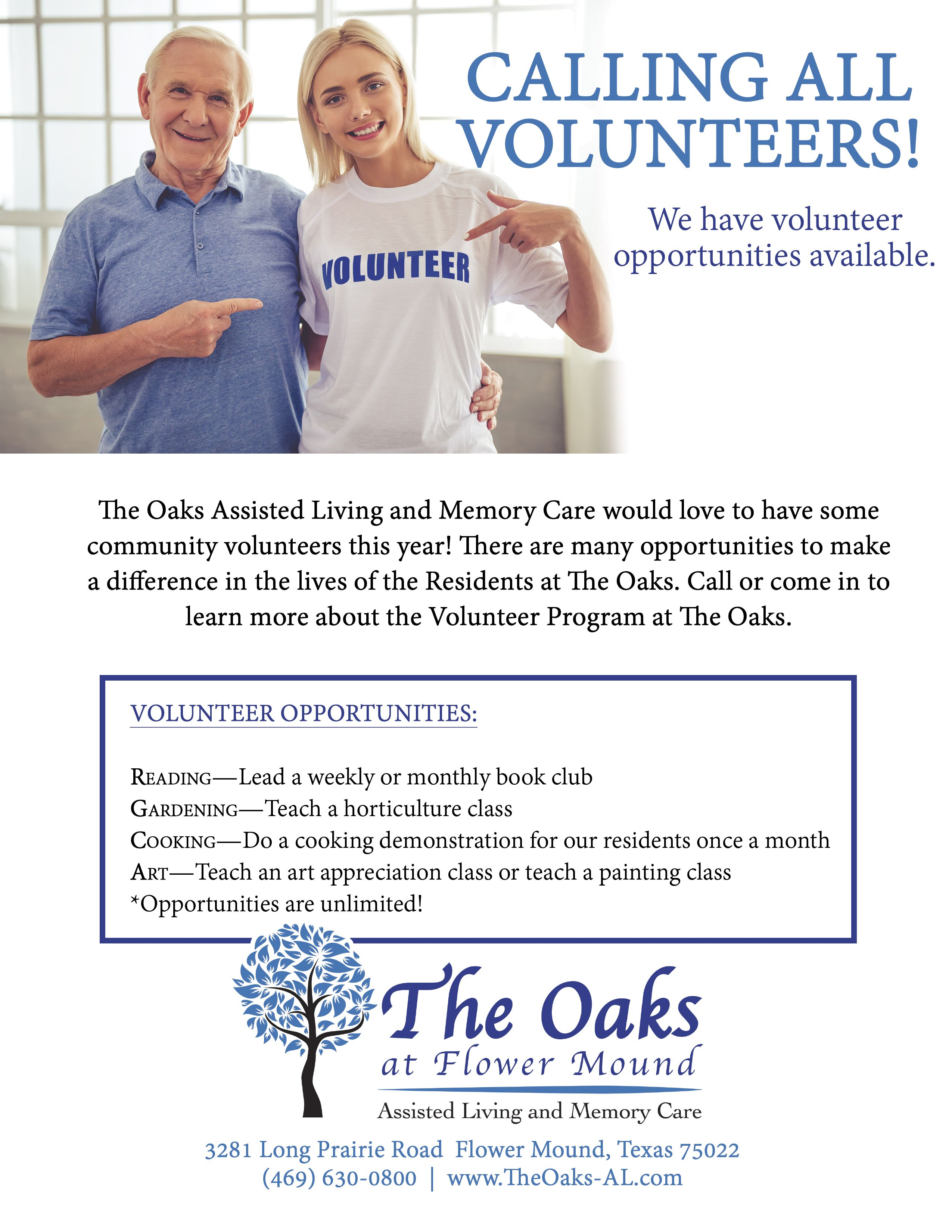 Calling all Volunteers in #FlowerMound! We love to get the