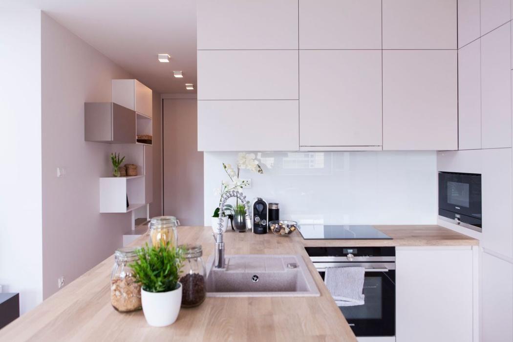 Galeria Zdjec Mieszkanie Urzadzone W Pastelowych Kolorach Zdjecie Nr 5 Urzadzamy Pl Kitchen Kitchen Interior Small Kitchen