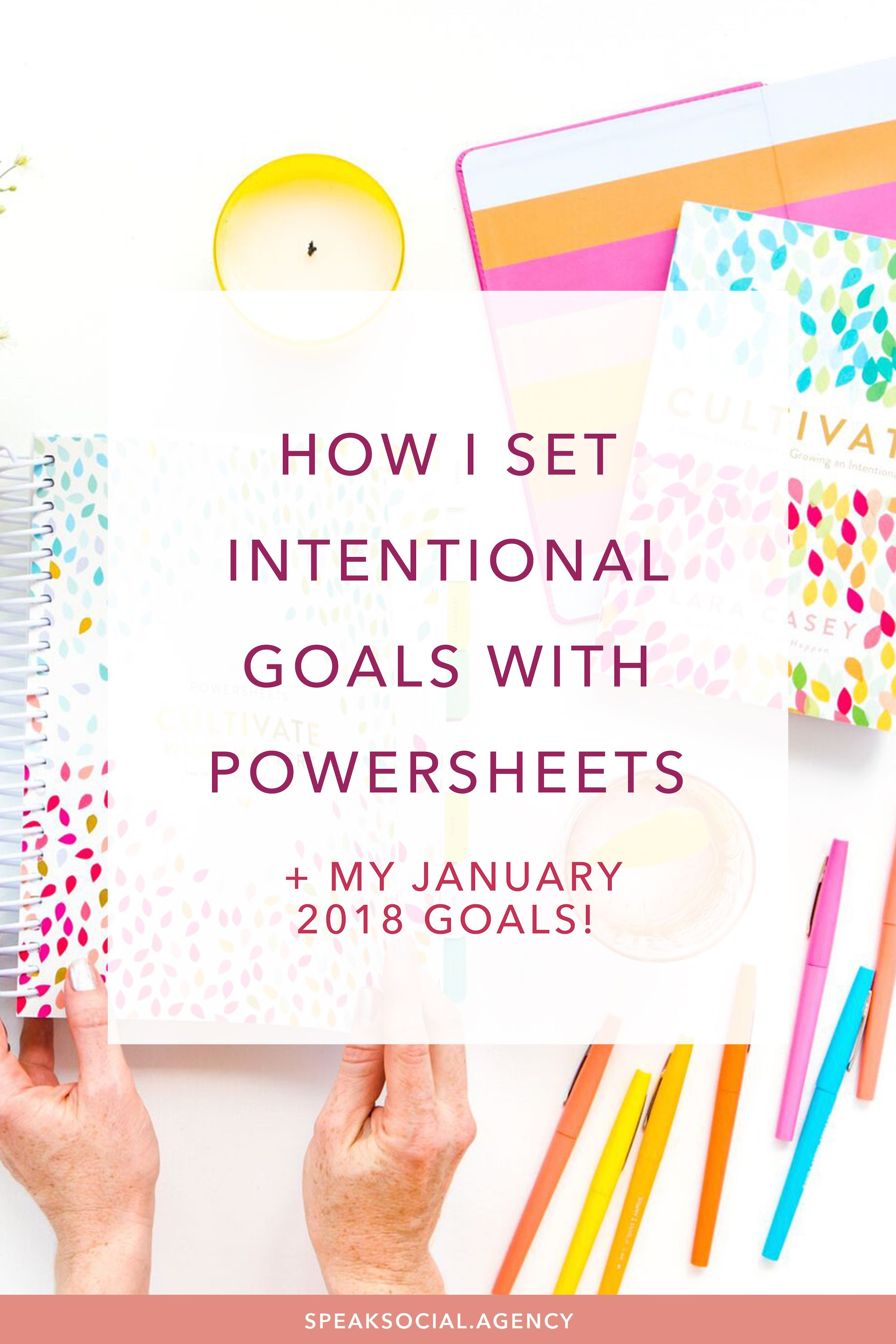 How I Set Intentional Goals With Powersheets My January