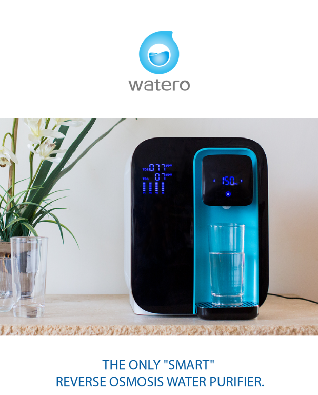 Watero The Only Smart Reverse Osmosis Purifier Countertop
