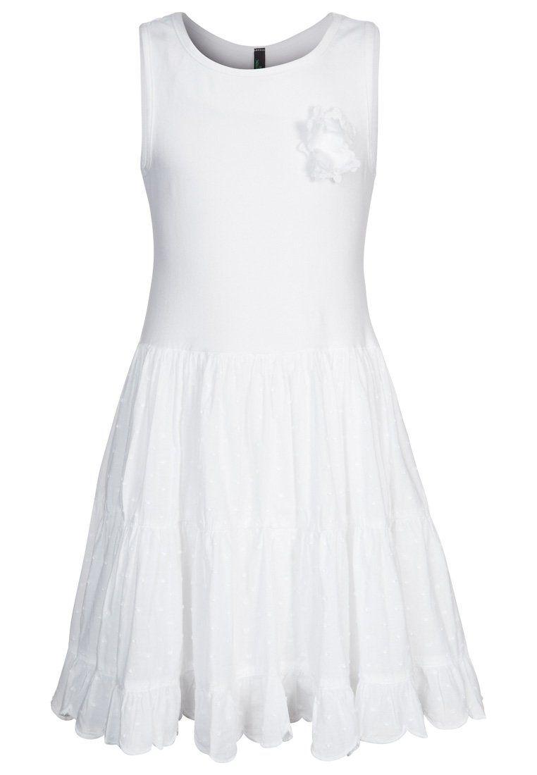 Weisses jersey kleid