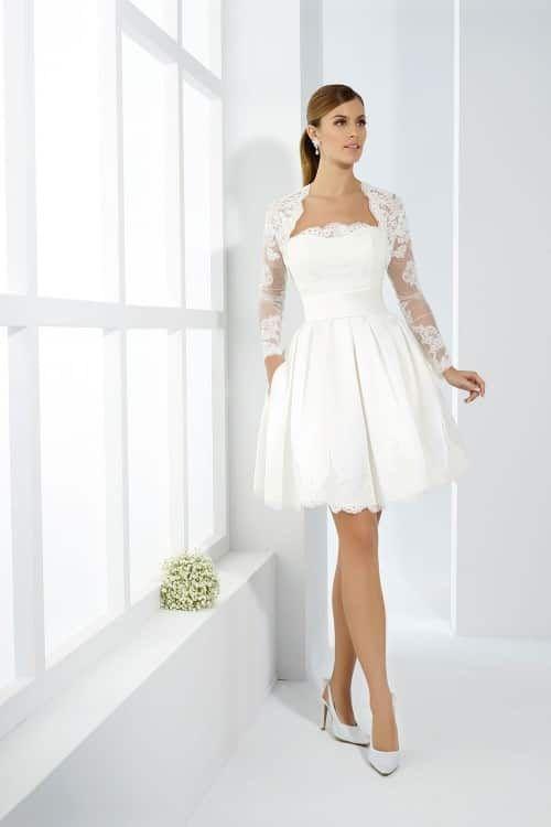 7c50a4b85 20 vestidos de novia cortos  outfits cómodos y estilosos
