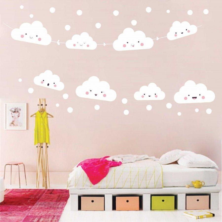 Wandtattoo Kinderzimmer Wolken Stern Nr 268 Ideas Decor