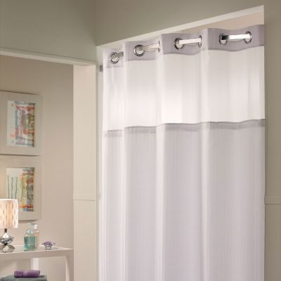 Hookless Shower Curtain And Liner Cortinas Banos