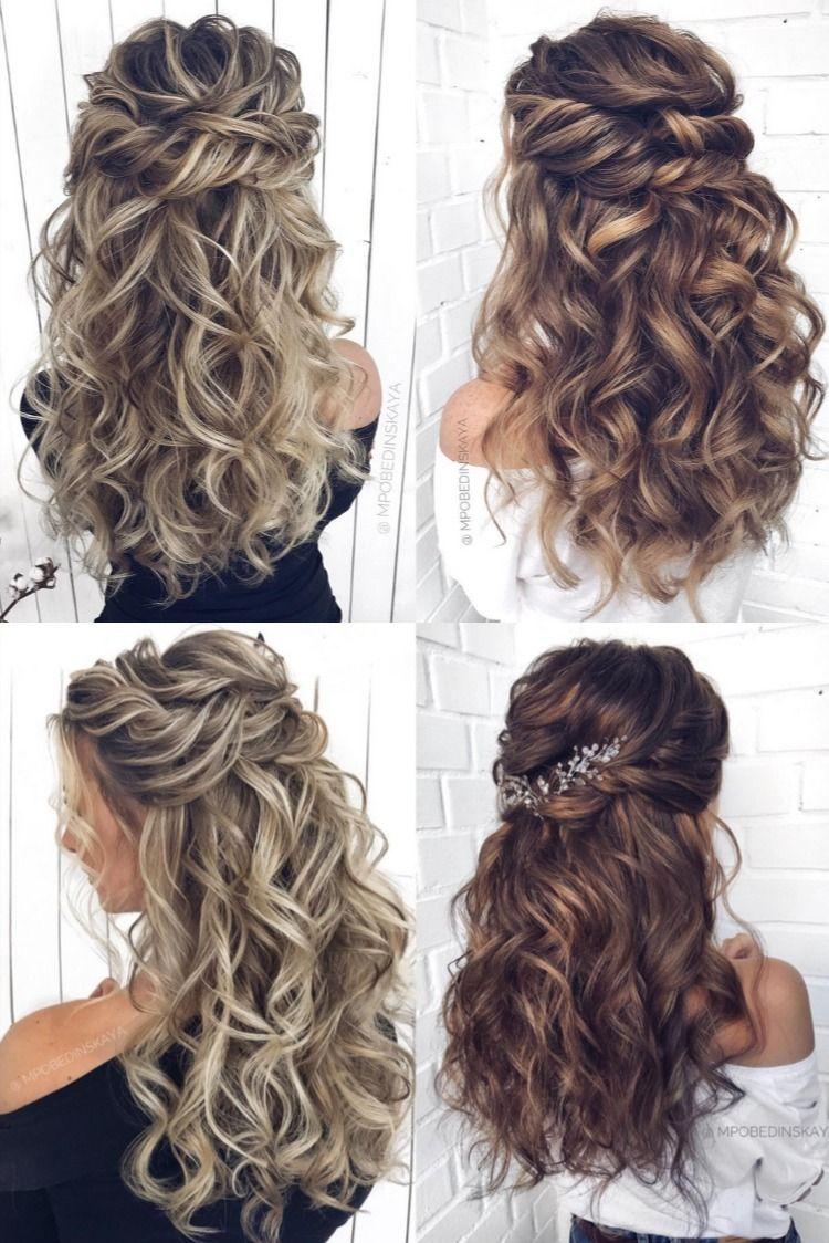 30 Half Up Half Down And Updo Wedding Hairstyles From Mpobedinskaya Roses Rings Wedding Hair Down Wedding Hairstyles For Long Hair Down Hairstyles