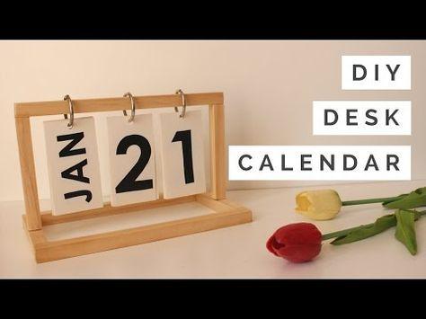 DIY - Calendário de Mesa - YouTube crafts Pinterest DIY, Diy